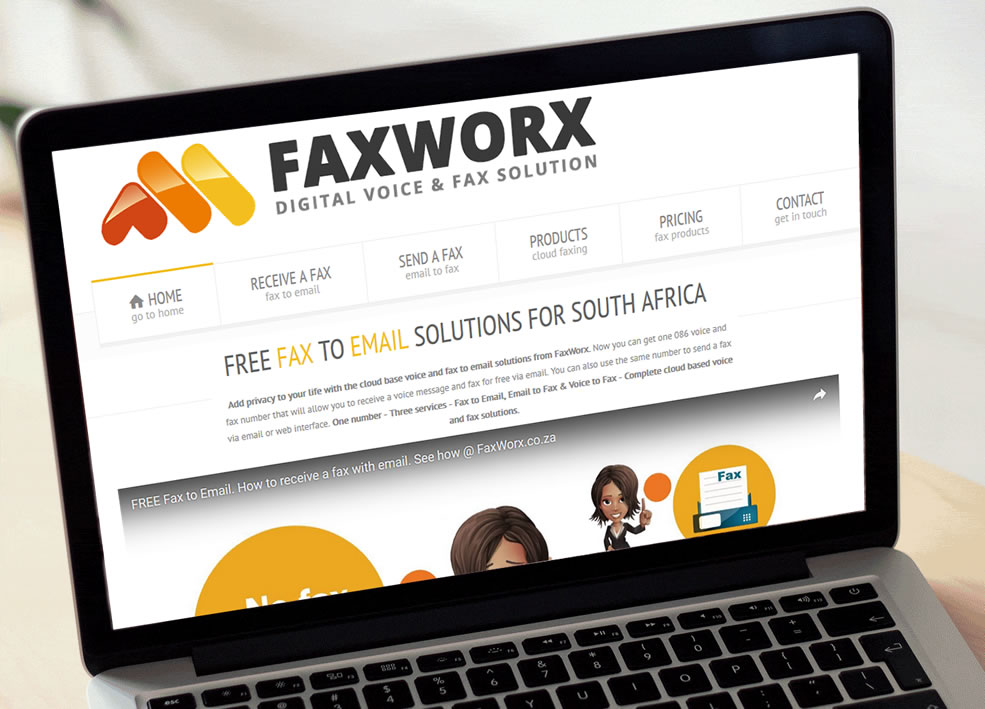 FaxWorx WordPress Website